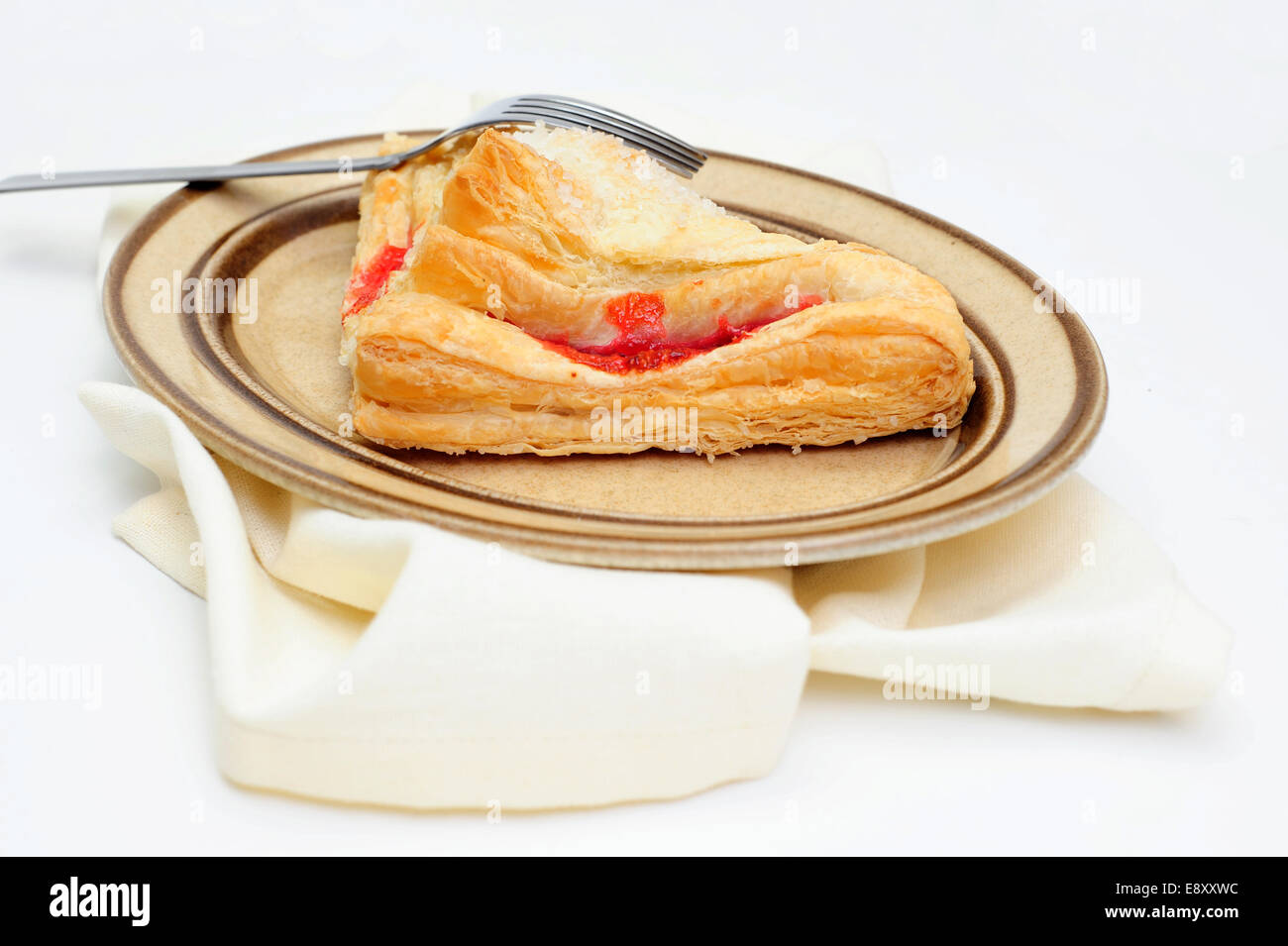Cherry Turnover Side View - Stock Image