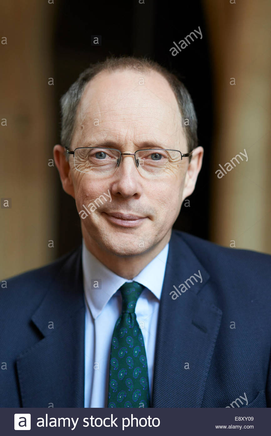 Andrew Dilnot CBE British Broadcaster and Economist at Bodleian Divinity School   at The Oxford  Literary Festival - Stock Image