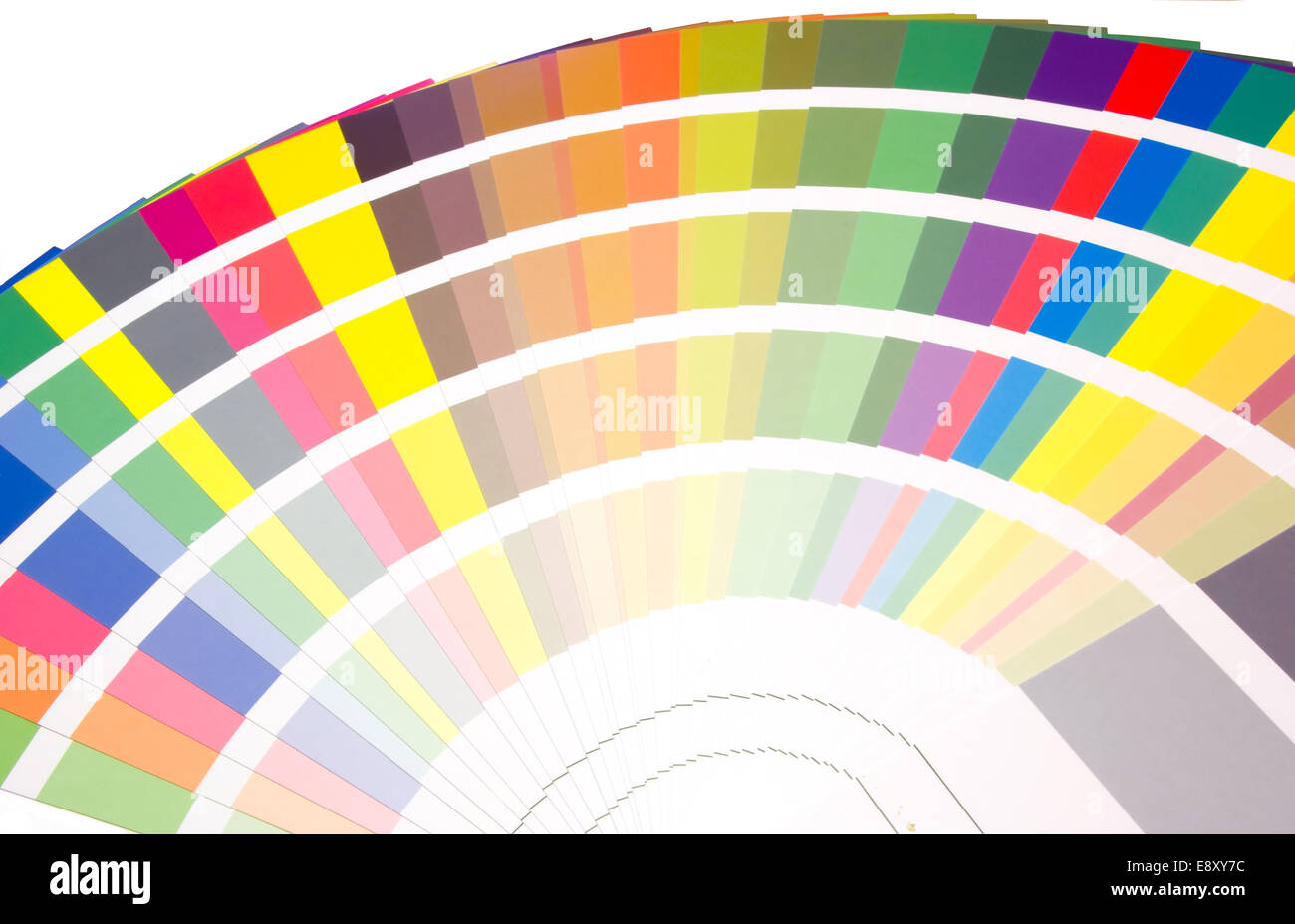fan of colors and tones samples - Stock Image