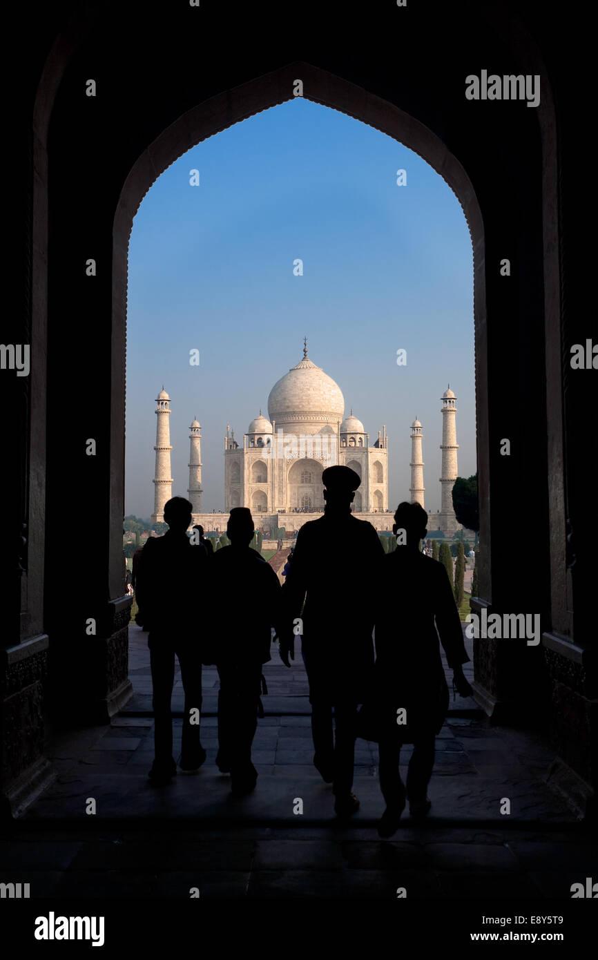 Taj Mahal South Entrance - Stock Image