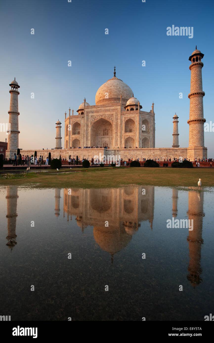 Taj Mahal Sunset Reflection - Stock Image