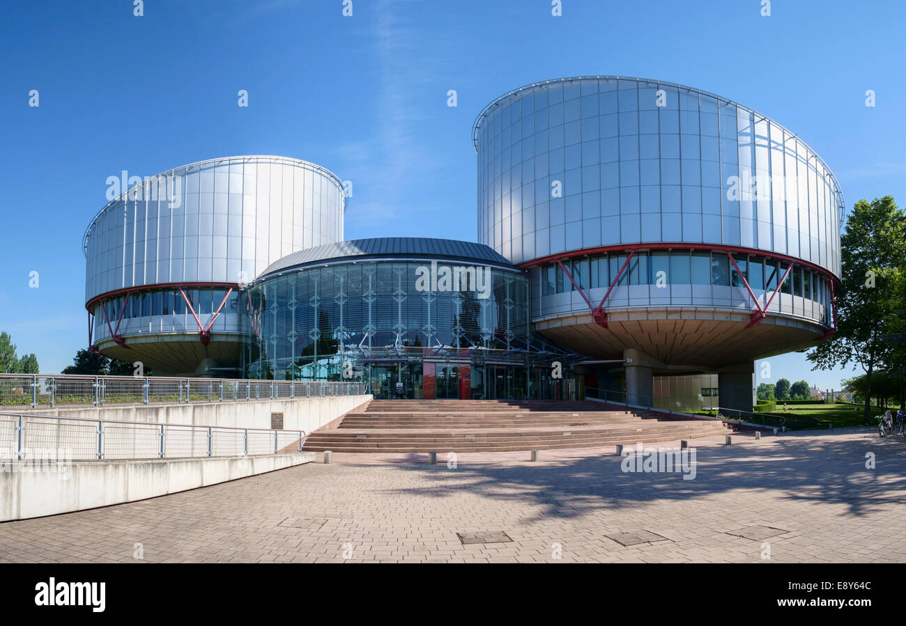 European Court of Human Rights building in Strasbourg, France, Europe - Stock Image