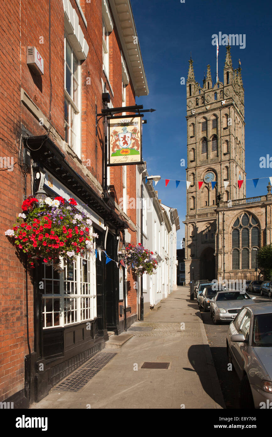 UK, England, Warwickshire, Warwick, Church Street, the Zetland Arms - Stock Image