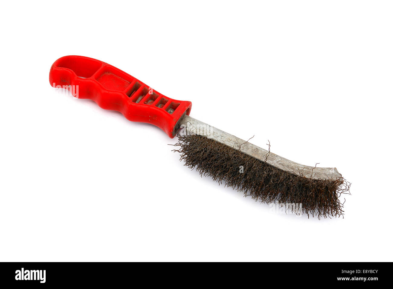 Brush for cleaning metal surfaces - Stock Image