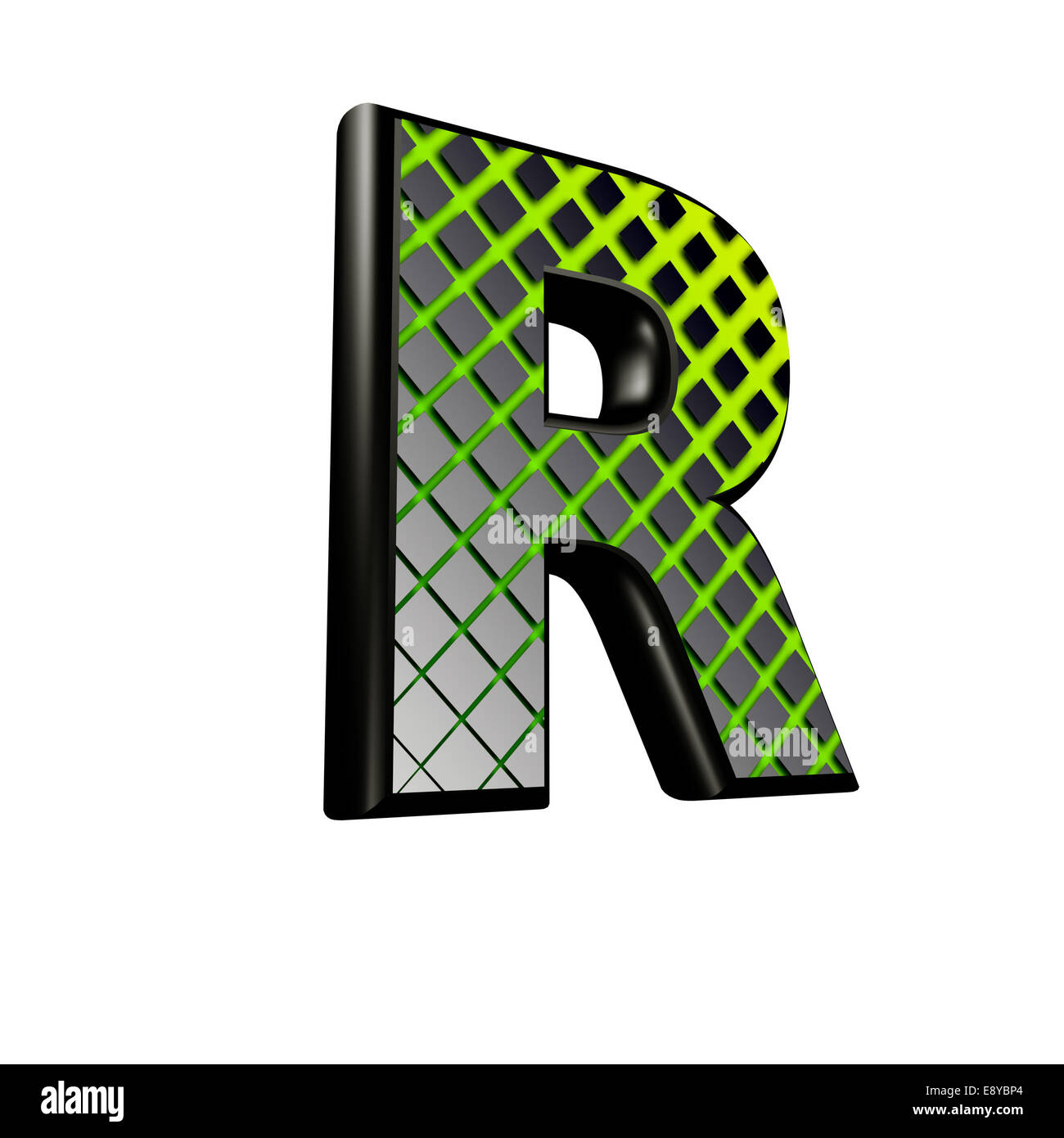 3d letter with green futuristic texture r stock photo 74360668 3d letter with green futuristic texture r altavistaventures Image collections