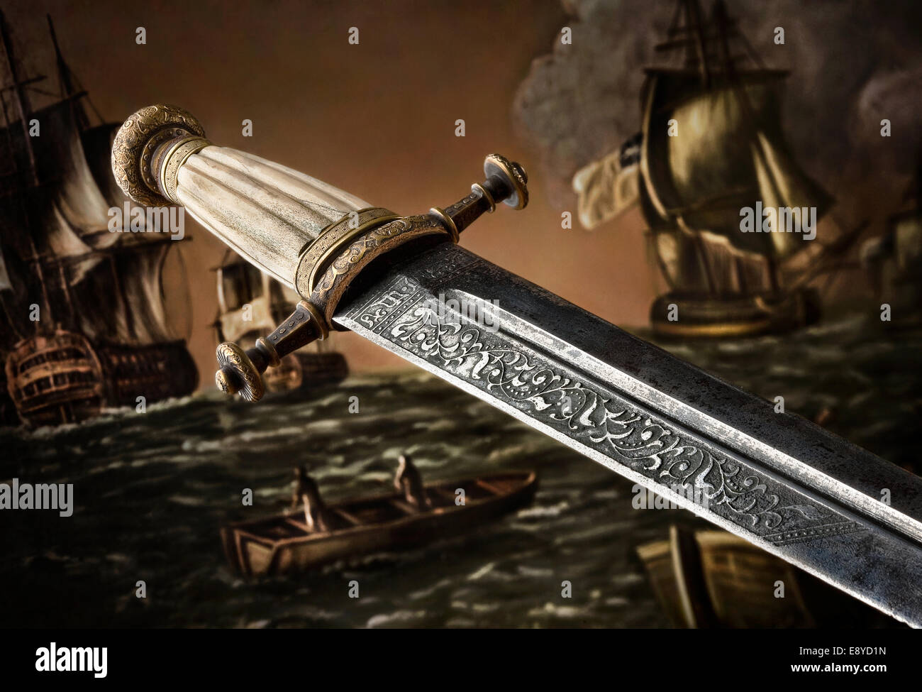 Slavic Dagger Stock Photo