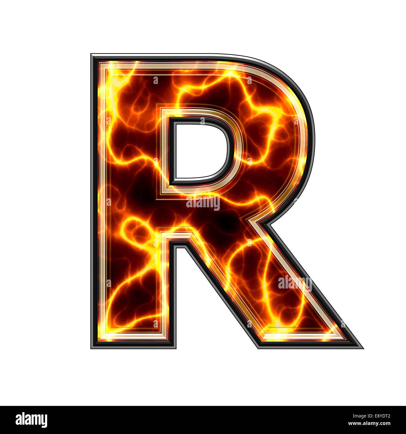 Letter r 3d stock photos letter r 3d stock images alamy 3d electric letter r stock image altavistaventures Image collections