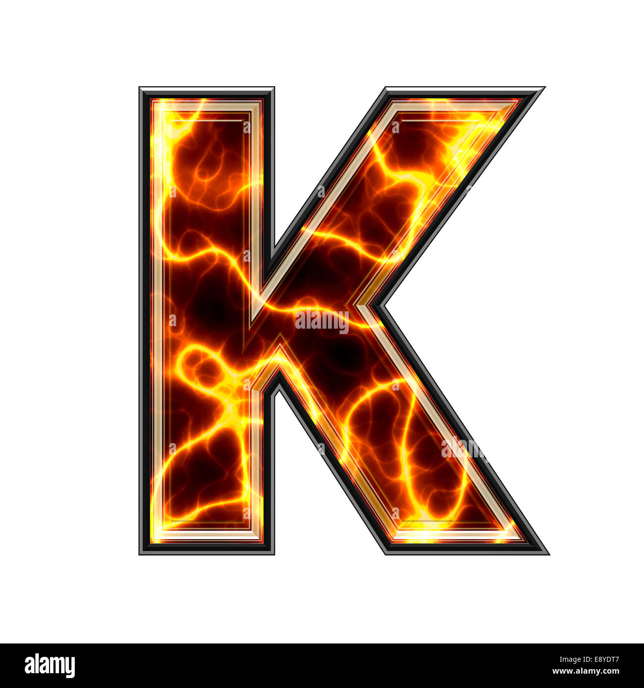 3d electric letter -K- - Stock Image