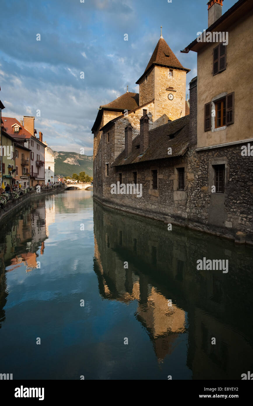 Annecy Canal Island Prison Rear - Stock Image