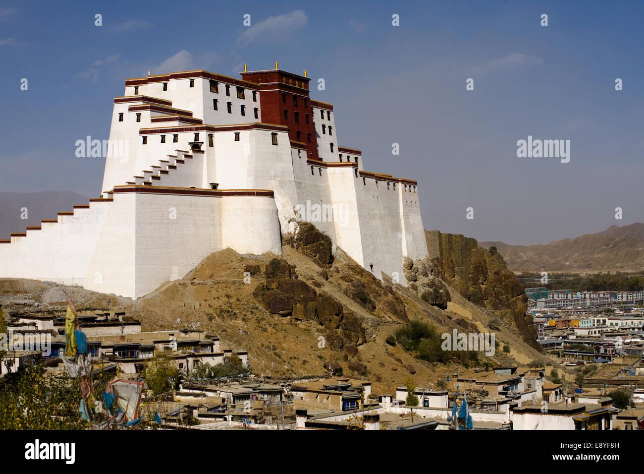 Samdrubtse Dzong Fort - Stock Image