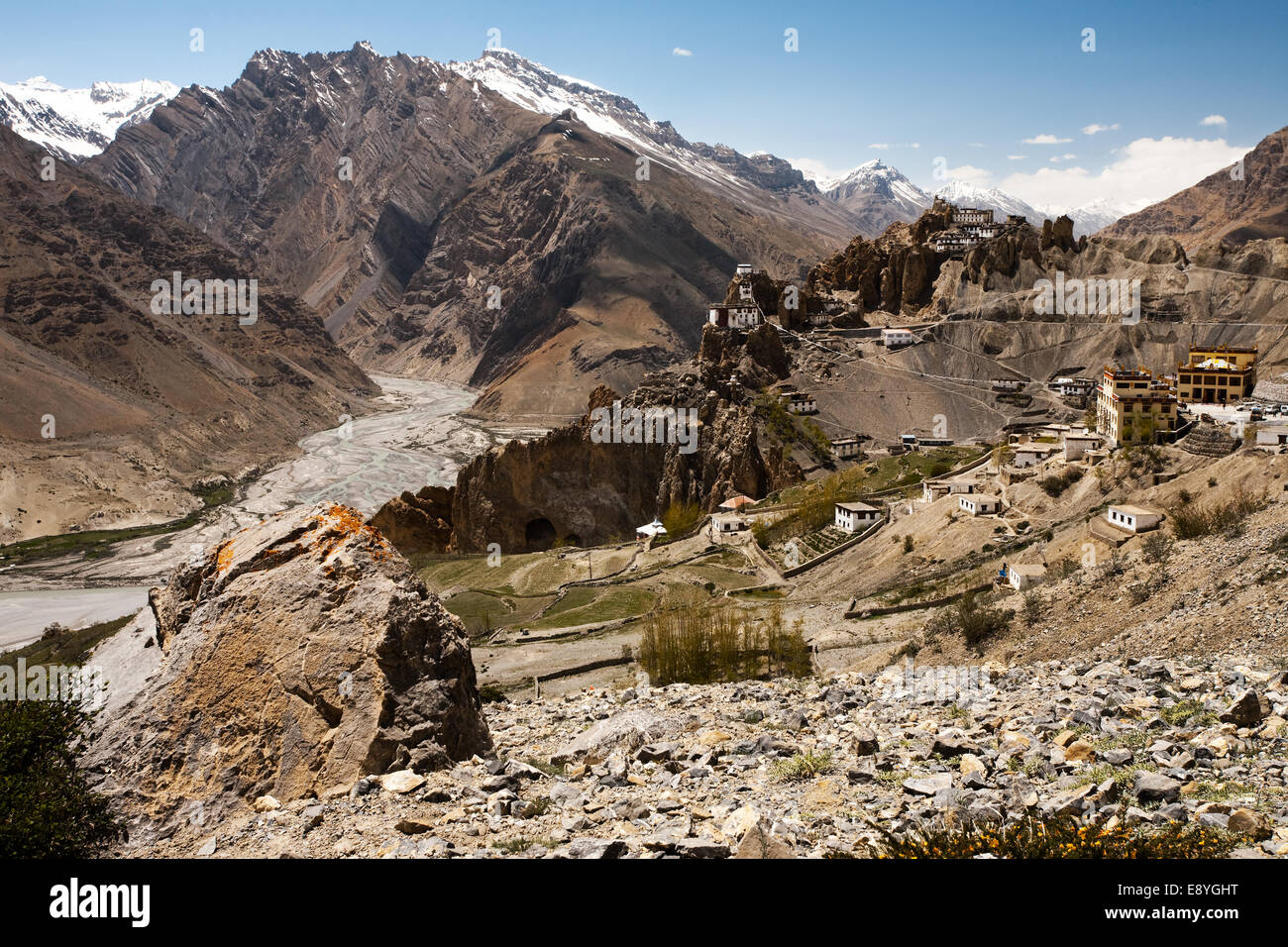 Medium Valley And Cliff Monastery - Stock Image
