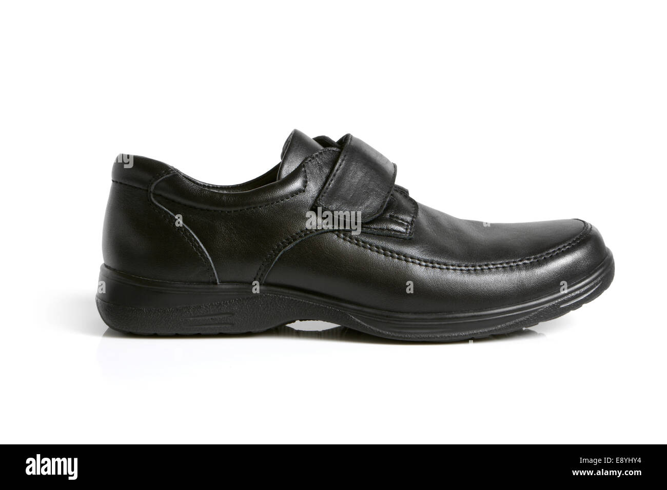 Black shoe - Stock Image