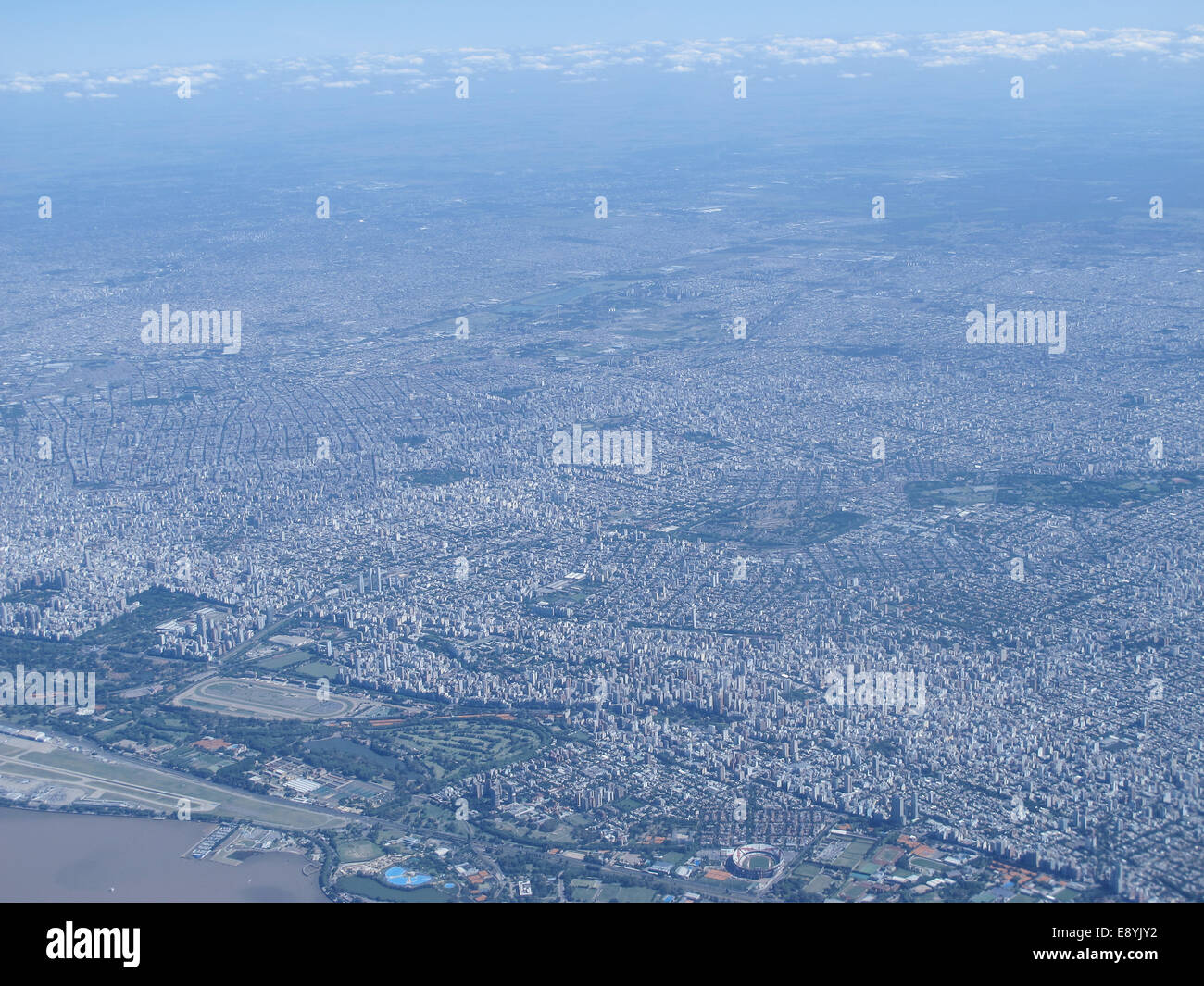 Buenos Aires, one of the largest megacities in the world, with pollution problems - Stock Image