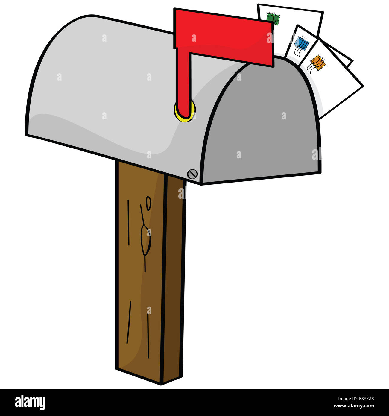 cartoon mailbox stock photo 74366603 alamy rh alamy com mailbox cartoon pic mailbox cartoon art