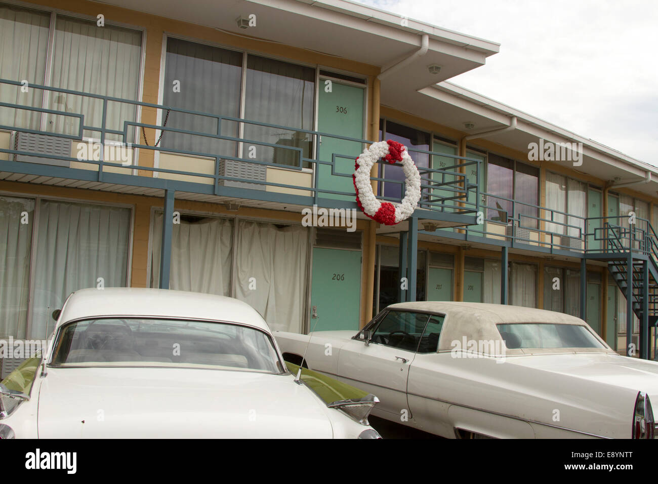 National Civil Rights Museum located in the old Lorraine Motel, site of the Martin Luther King, Jr assassination, in Memphis TN Stock Photo