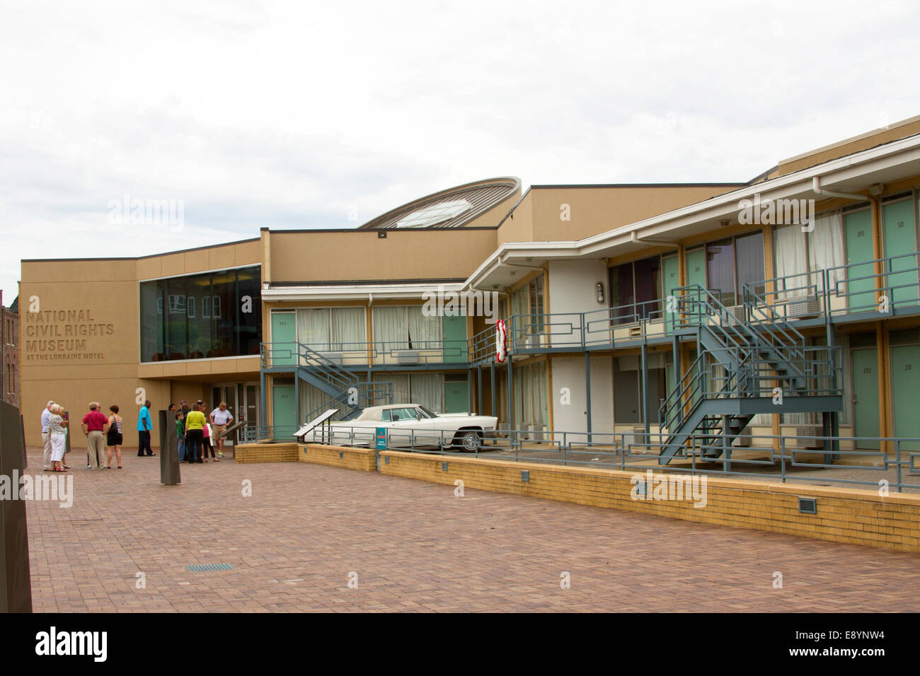National Civil Rights Museum located in the old Lorraine Motel, site of the Martin Luther King, Jr assassination, - Stock Image