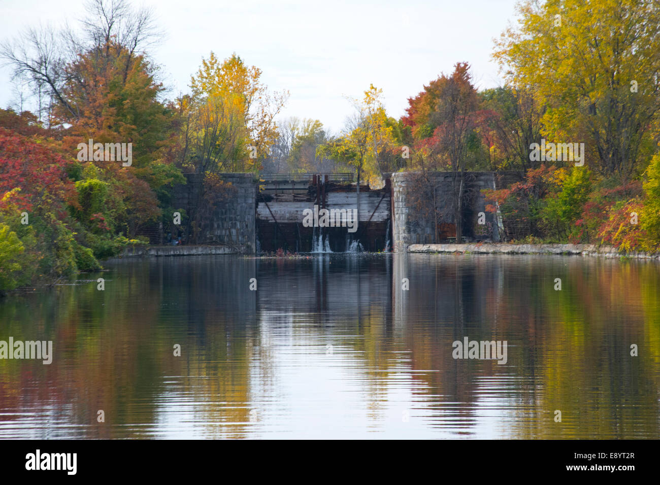 The first lock of the Soulange Canal. - Stock Image