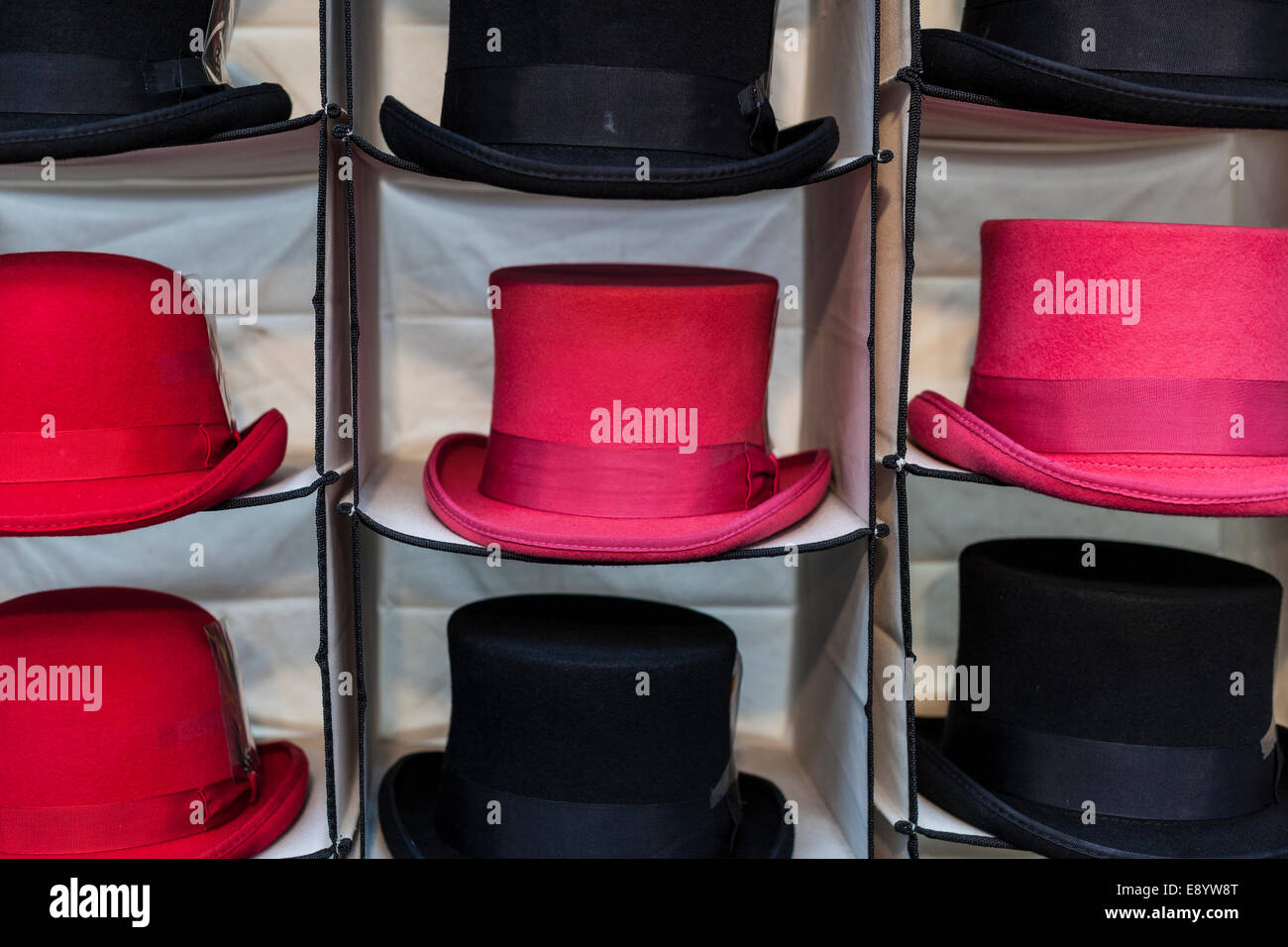 Colourful Hats on Display and for Sale - Stock Image