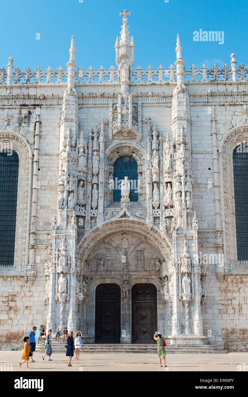 Portugal Lisbon Belem Mosteiro dos Jeronimos monastery order St Jerome Hieronymites till 1834 built 1501 spice tax Stock Photo