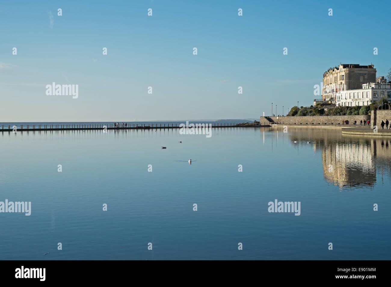 Marine Lake, Weston-super-Mare, Somerset, England - Stock Image
