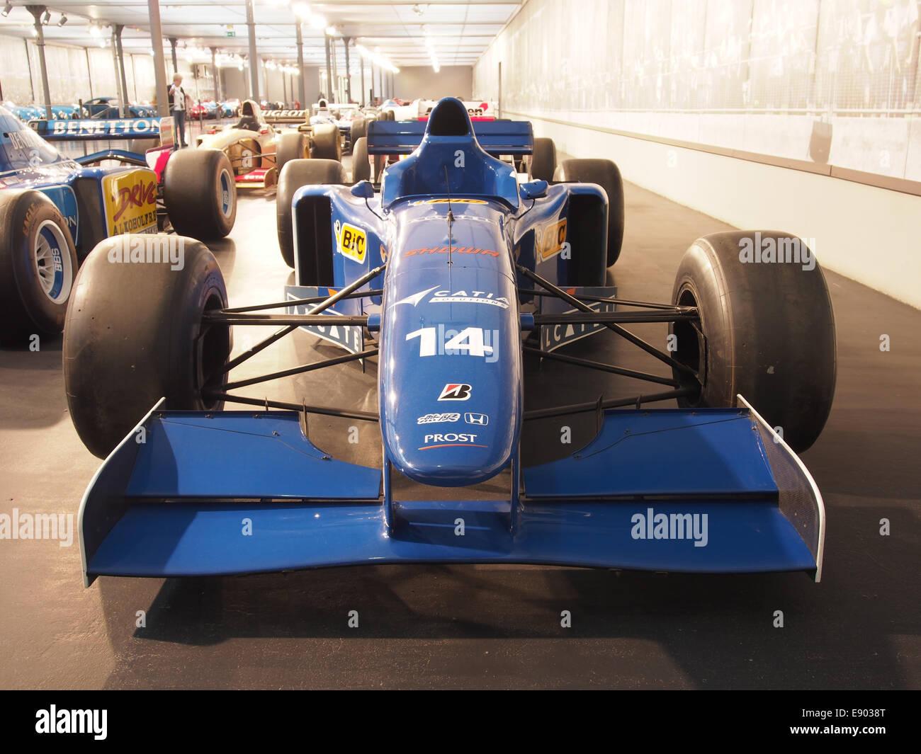 1996 Ligier Mugen-Honda JS43 driven by Olivier Panis, pic1 - Stock Image