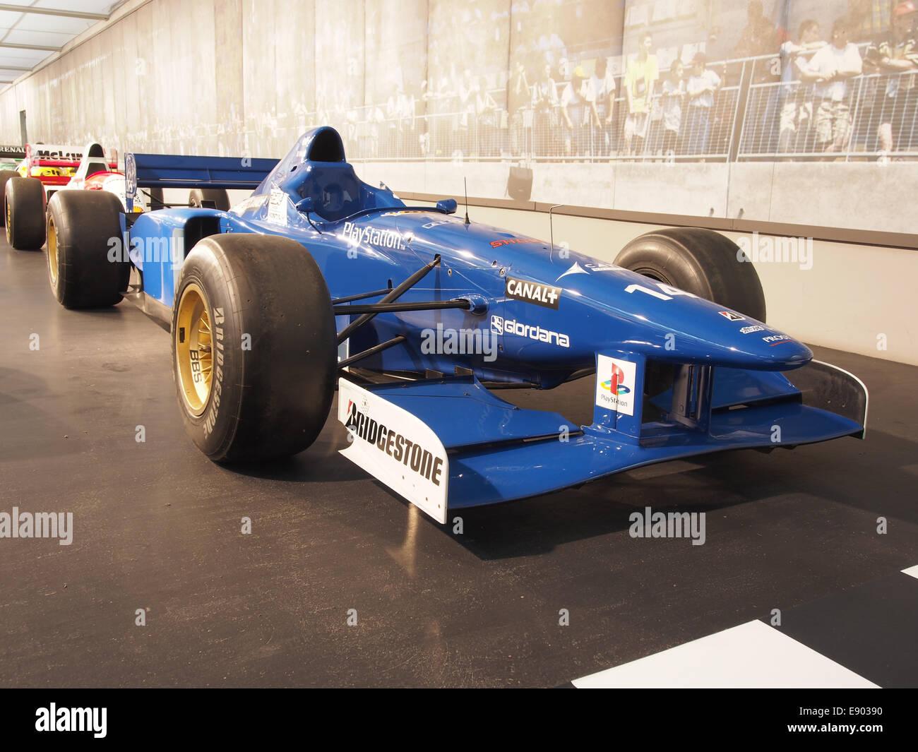 1996 Ligier Mugen-Honda JS43 driven by Olivier Panis, pic3 - Stock Image