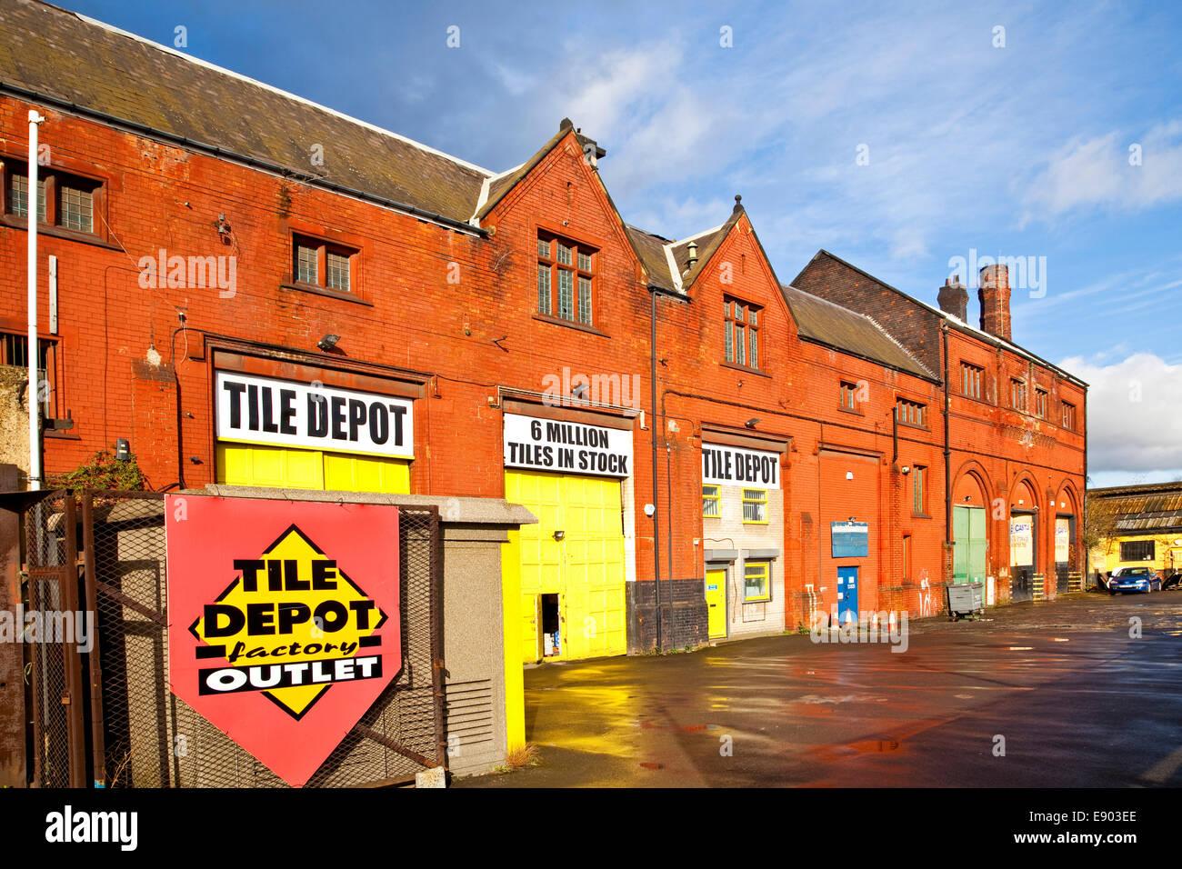 The former Tinsley tram sheds Sheffield South Yorkshire UK - Stock Image