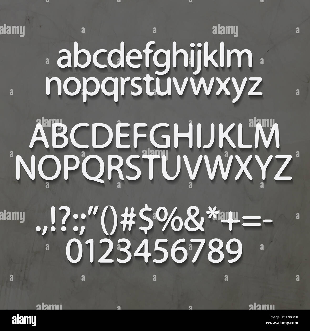 Industrial Style Alphabet Letters Numbers Stock Photos Industrial