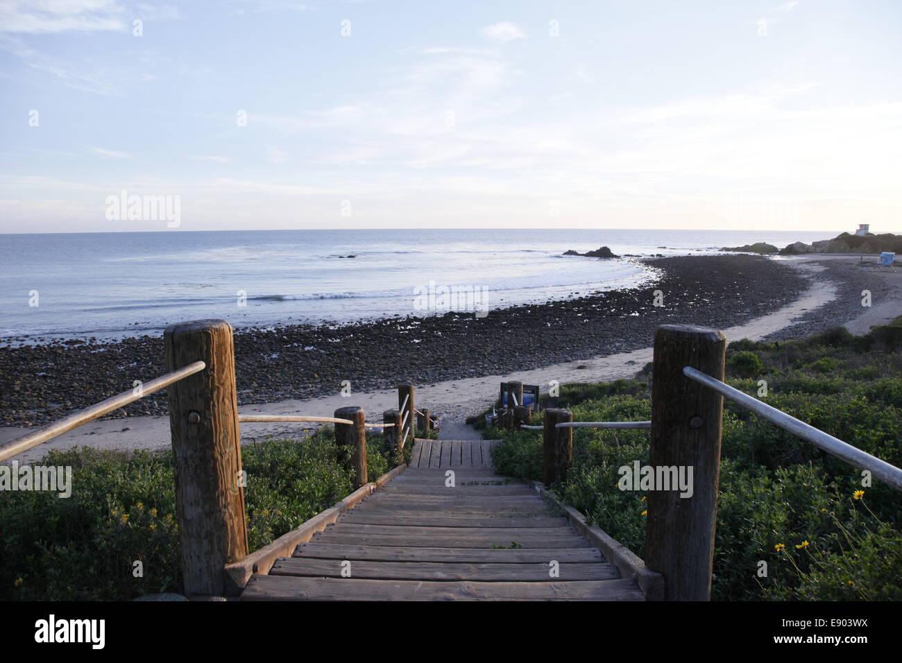 Stairway to Malibu - Stock Image