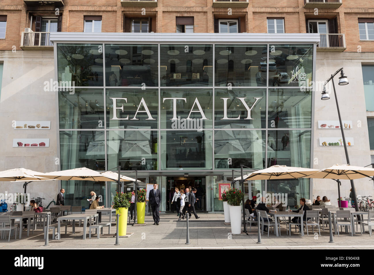 Eataly shop in Milan, Italy - Stock Image