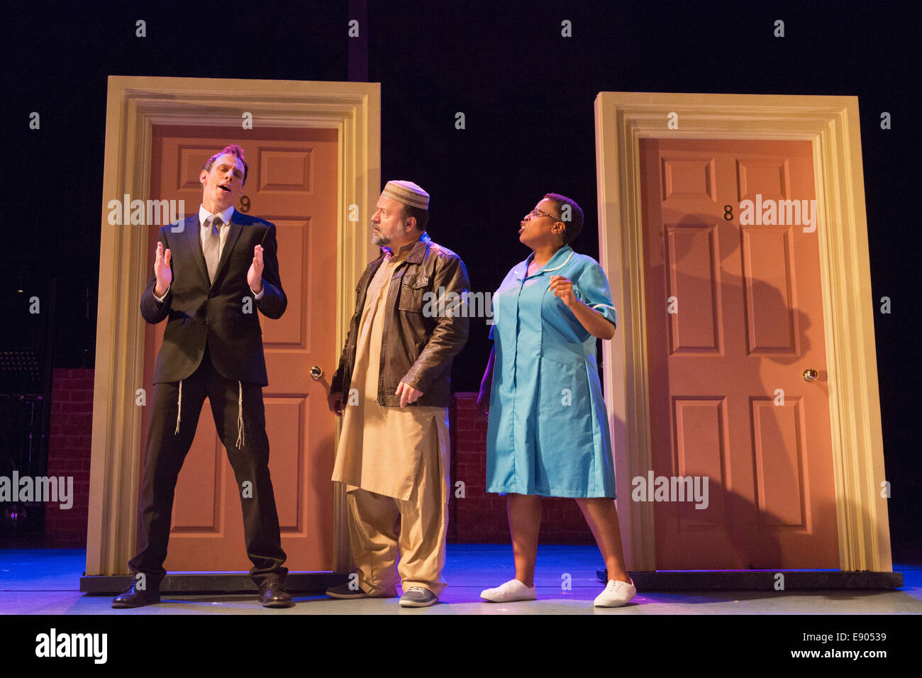 Photocall For The Musical The Infidel By David Baddiel Steven Serlin Kev Orkian And Melanie Marshal