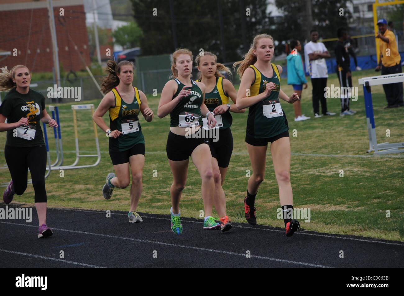 High school track meet - Stock Image