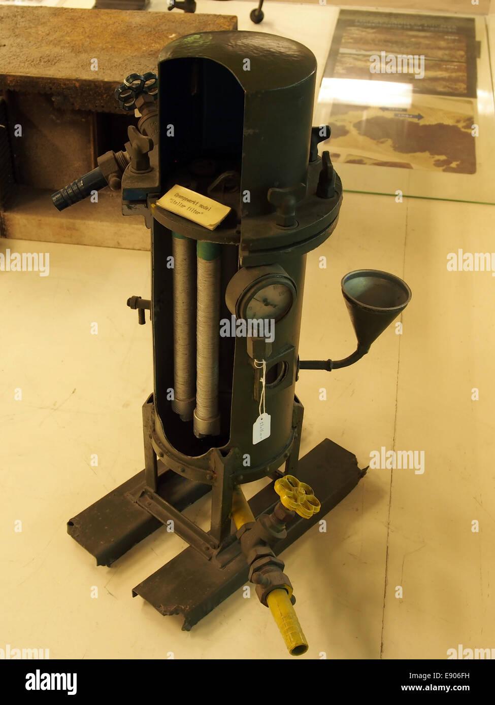Opengewerkt model van een Stellar filter, Geniemuseum, Vught, foto 2 Stock Photo