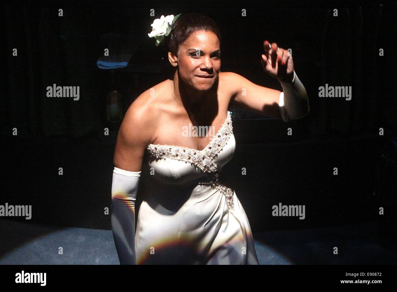 Opening night of Lady Day at Emerson's Bar and Grill at the Circle in the Square Theatre - Curtain Call.  Featuring: - Stock Image