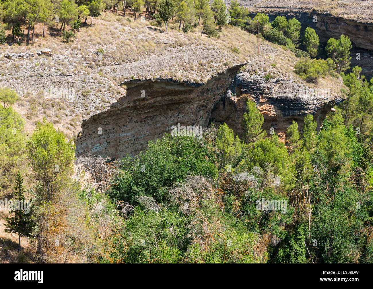 Canyon of the rio Cacin, Arenas del Rey, Andalusia, Spain. - Stock Image