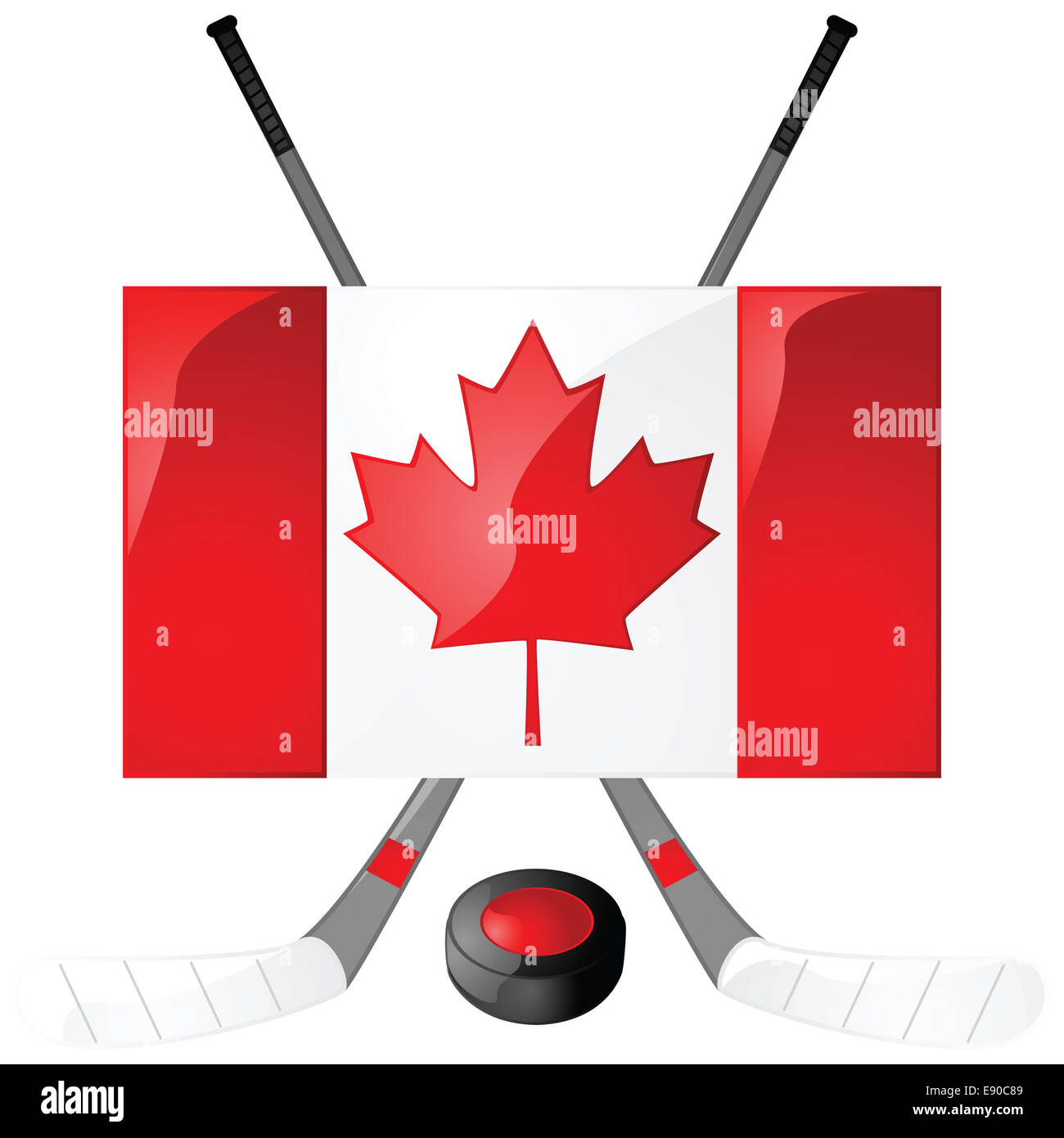 Canadian hockey - Stock Image
