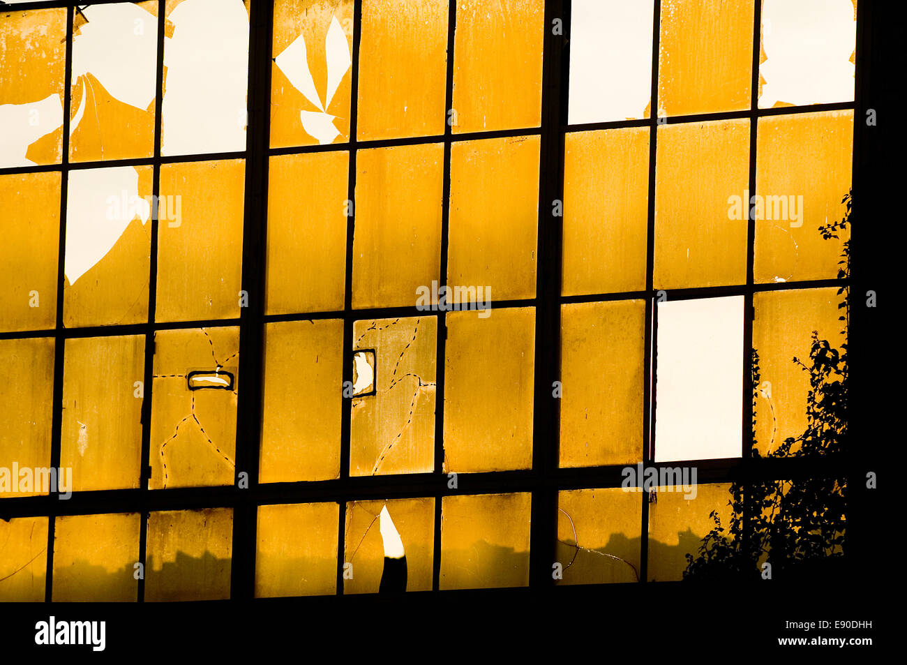 Broken window - Stock Image