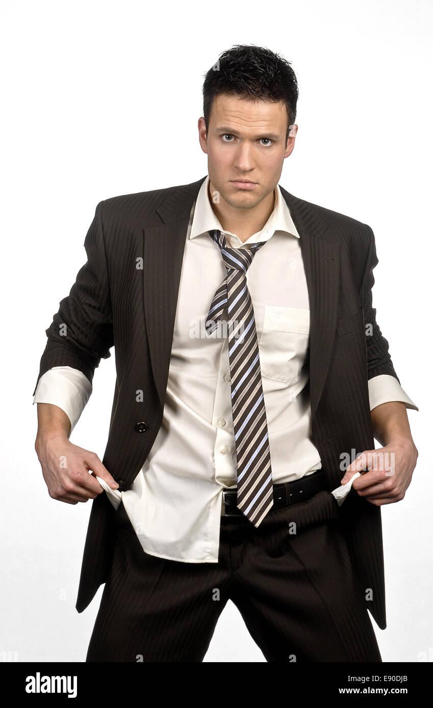 Broke businessman - Stock Image