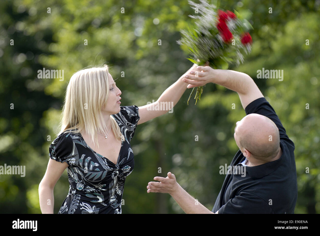 Couple at odds - Stock Image
