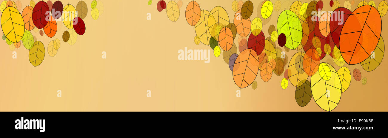 fall leaves graphics - Stock Image