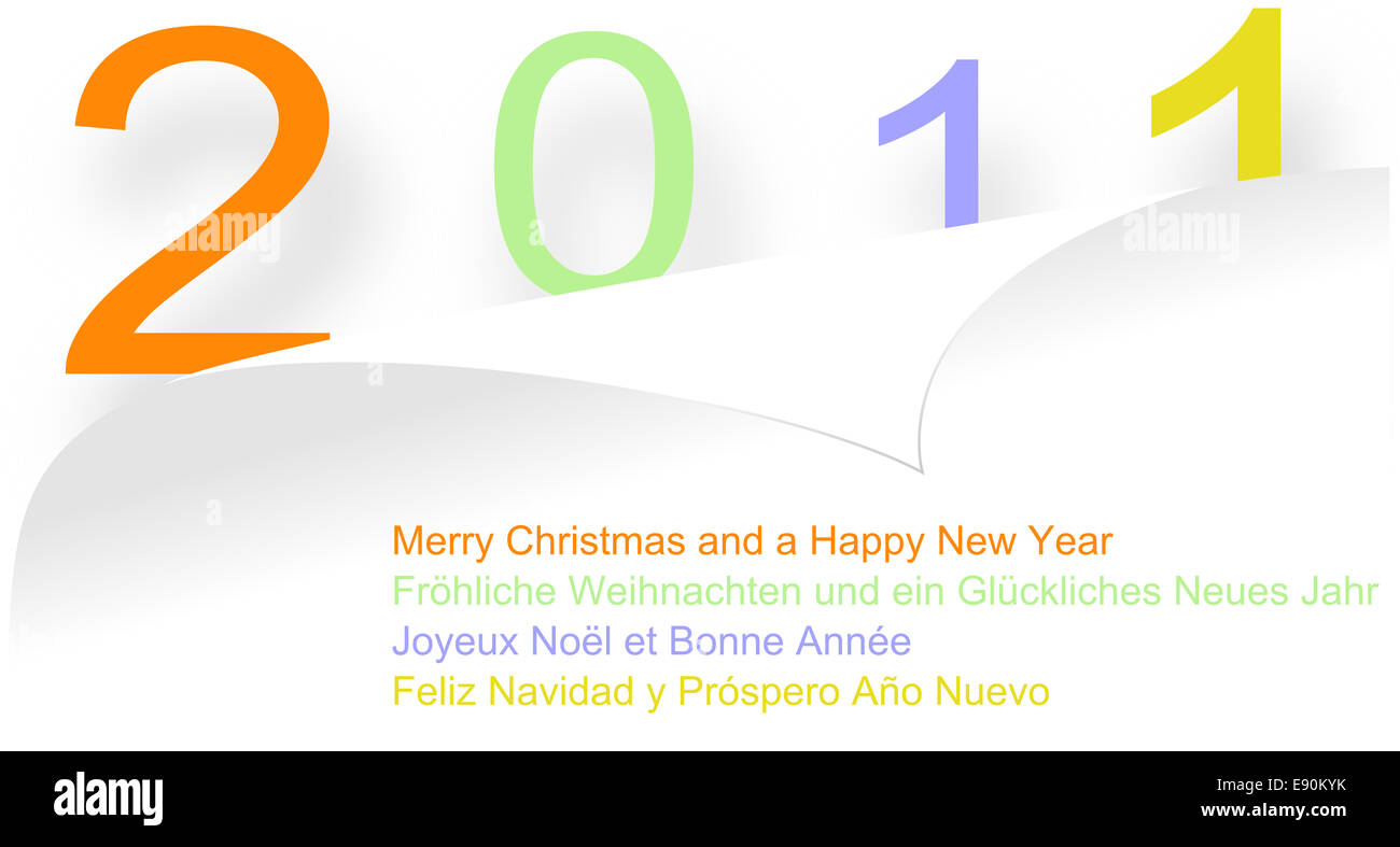 design card 2011 - Stock Image