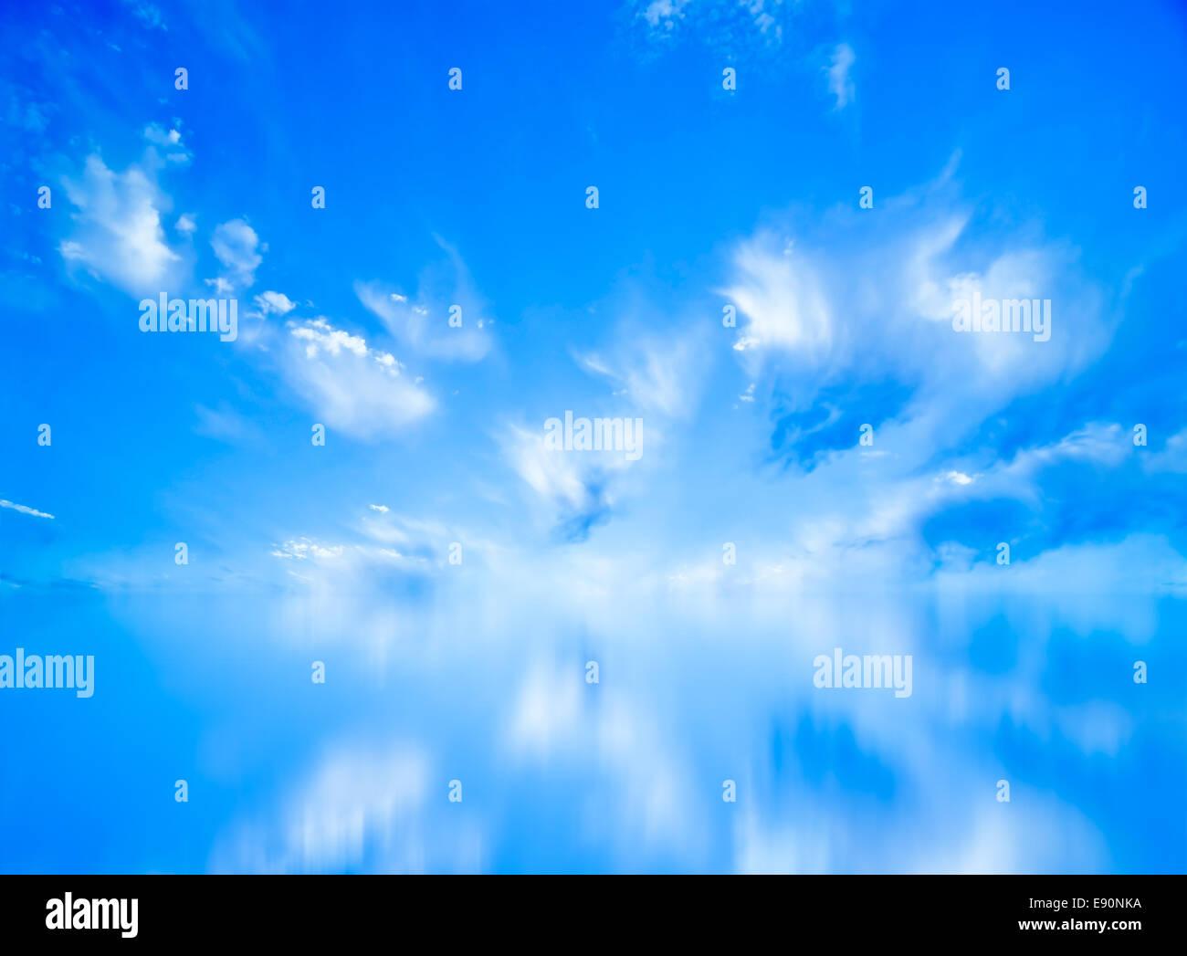 Beautiful blue sky panorama - Stock Image