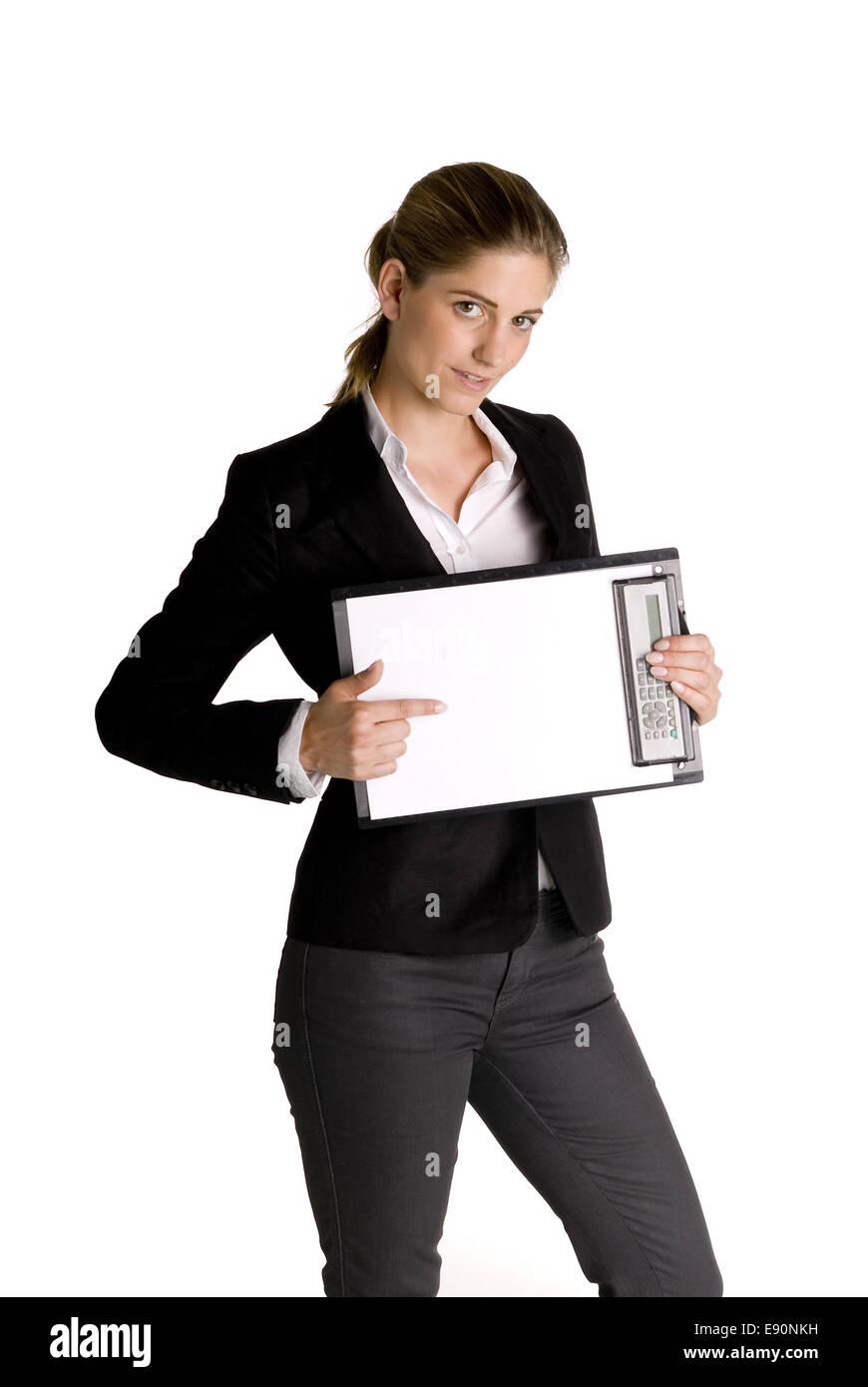 Young Secretary - Stock Image