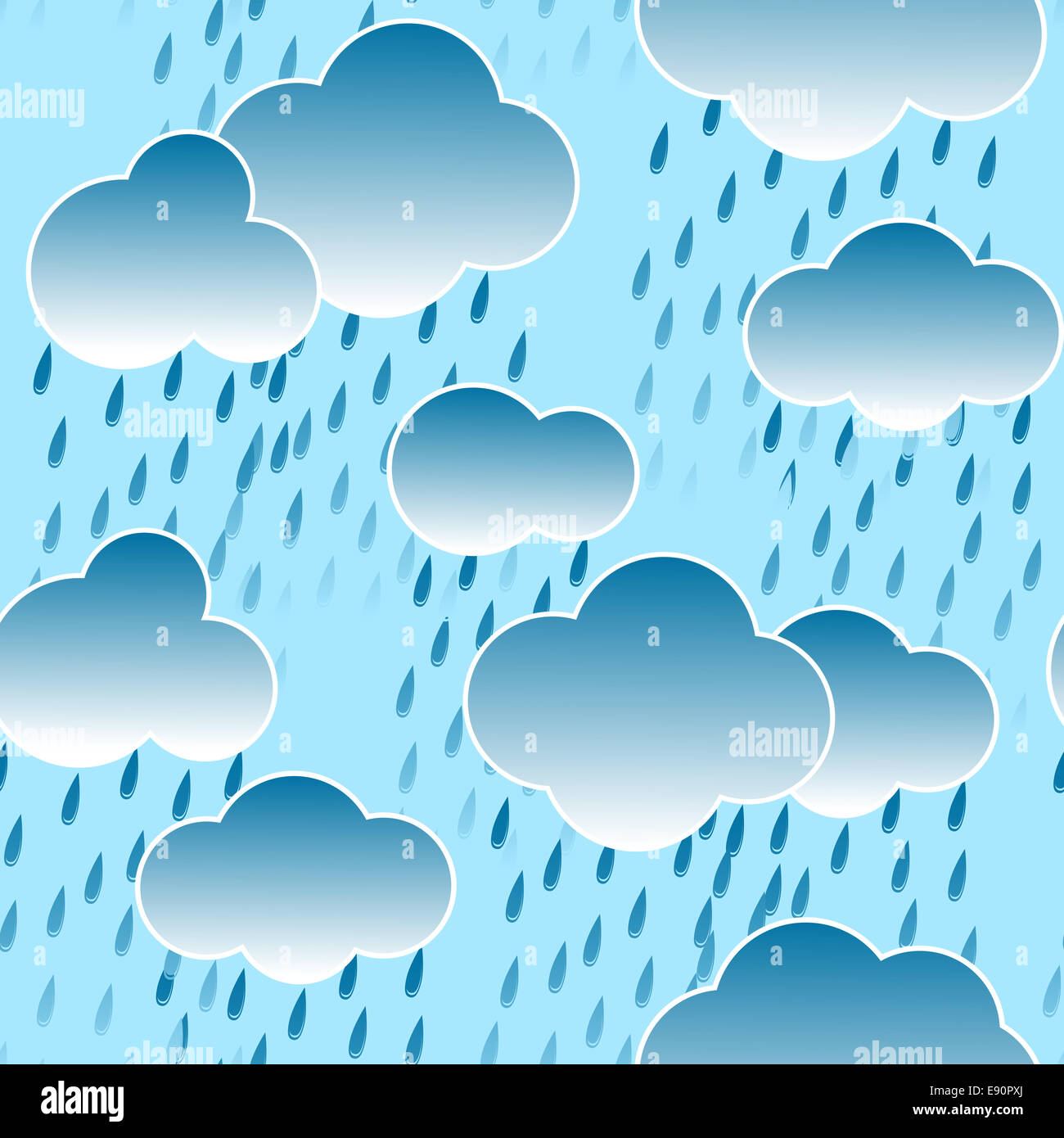 Raindrops Live Wallpaper: Background With Clouds And Rain Drops Stock Photo