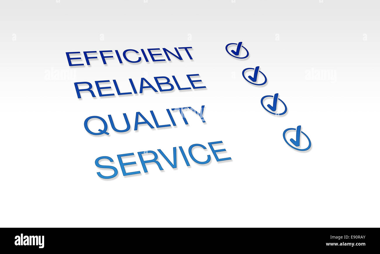Efficient, Reliable, Quality Service - Stock Image