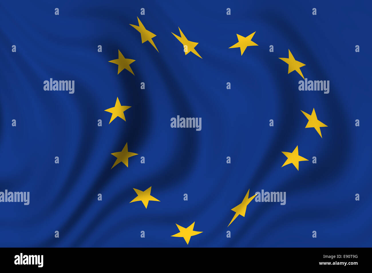 Flag of European Union - Stock Image