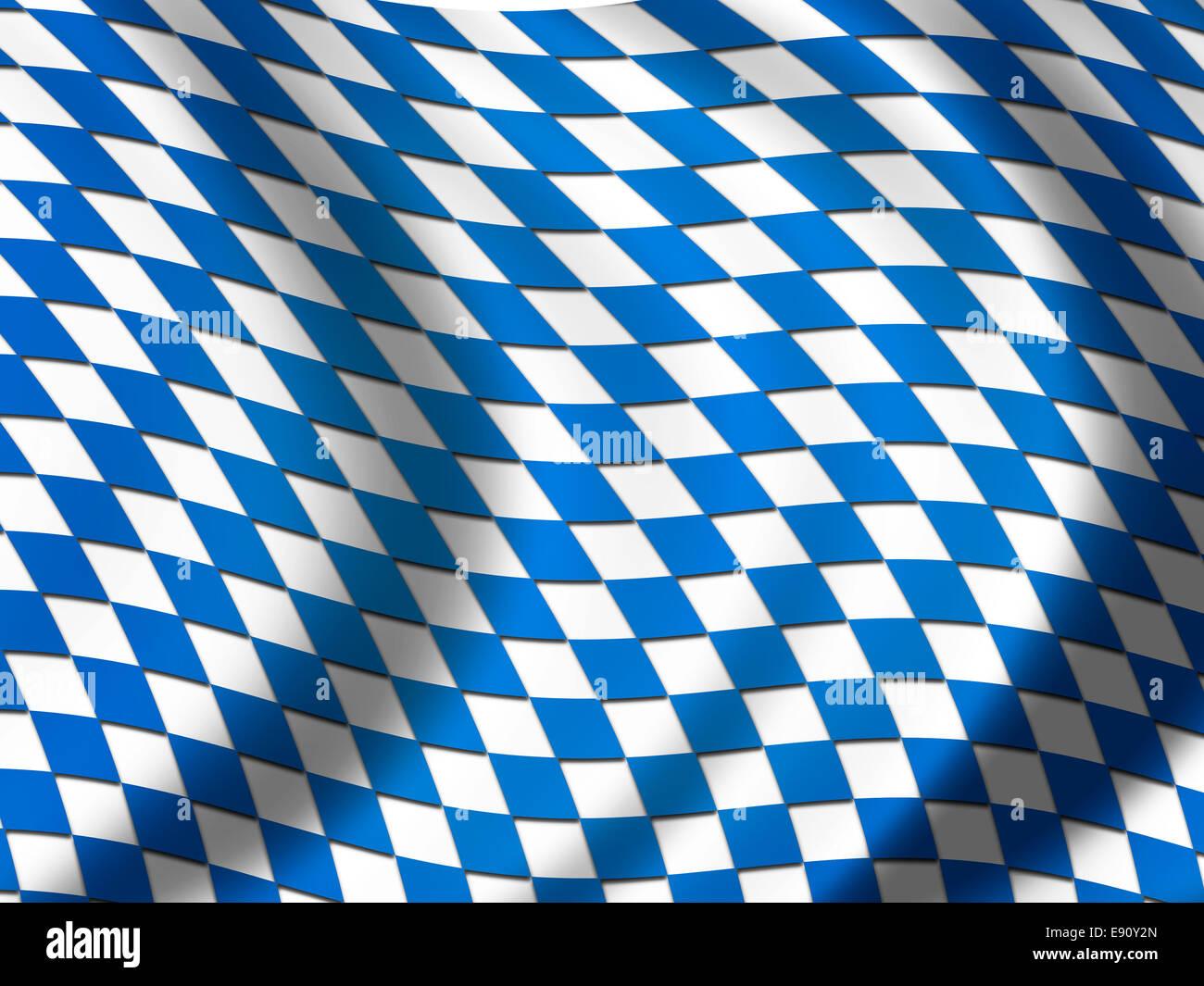 Bavarian Flag - Stock Image