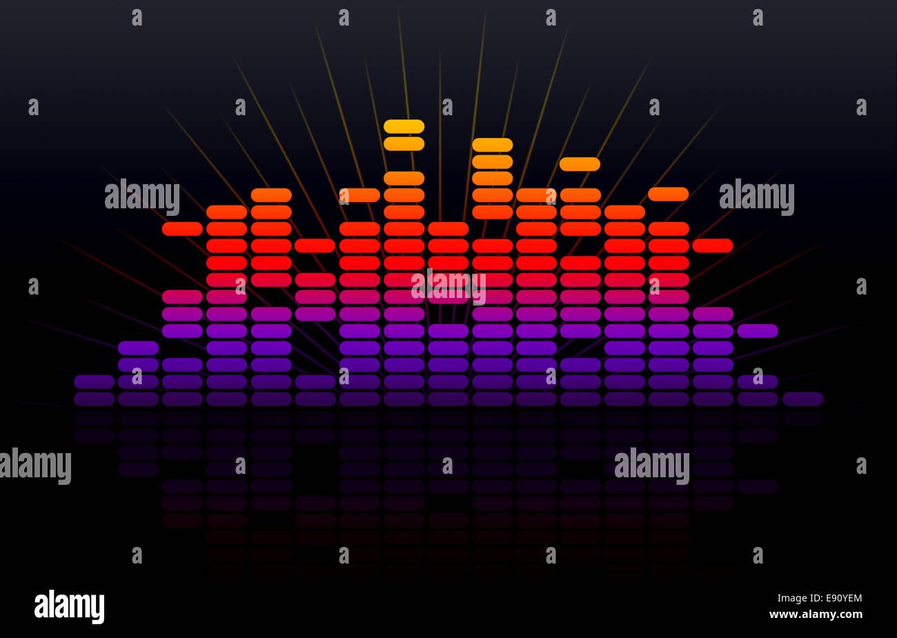 Digital music equalizer Stock Photo: 74394956 - Alamy
