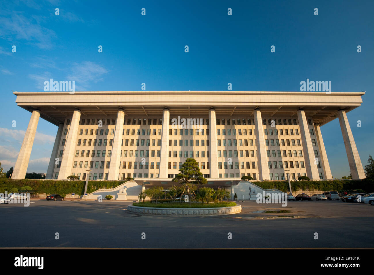 Korean National Assembly Rear - Stock Image