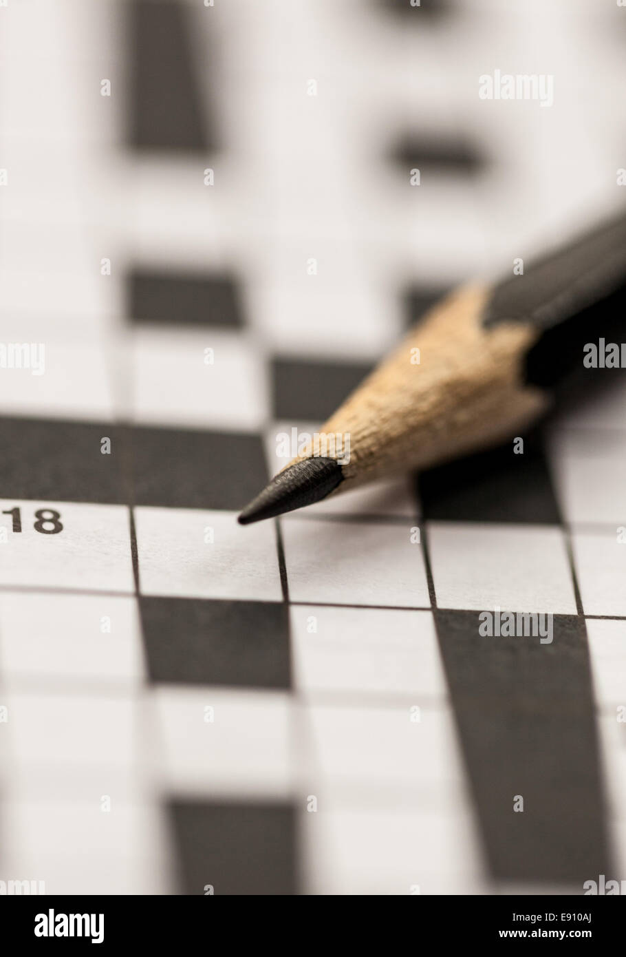 Crossword puzzle and a pencil Stock Photo: 74395626 - Alamy
